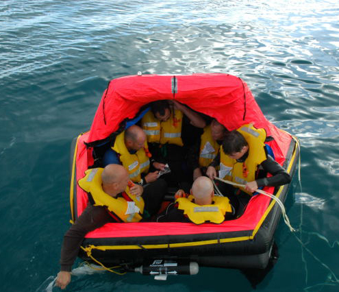 In the liferaft